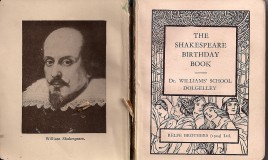 <p>The Shakespeare Birthday Book was a Prize awarded for Form Work, 1938-39.  </p>