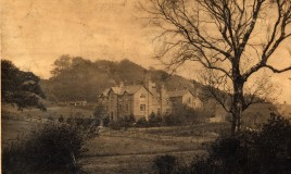 A view of the school buliding in the 1880s. The original of this photo is held in Meirionydd Record Office in Dolgellau.