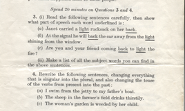 <p>Questions E to G relate to the passage adapted from 'Erewhon' by Samuel Butler on the previous page. </p> 20 minutes allowed for questions 3 and 4. <br>