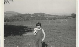<p>Eryl is wearing the school uniform dungarees worn by the girls at Glyn for messing about in. </p>