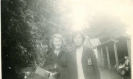 Elsa Morris and Lorraine Evans in 1960.