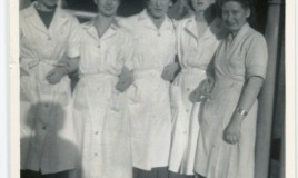 Miss Orford, Head of the Kitchen 3rd from left. <br>