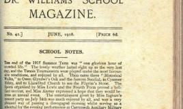 <p>This page, from the June 1918 School magazine, describes the end of term the previous summer. There was a tennis tournament and 'historical walks' to Owen Glyndwer's Oak and the famous Sundial, to Cymmer Abbey and to Llanelltyd to see The Pilgrim's Stone. Meanwhile the Sports, organised by the fourth form and miss Lewis, was a 'brilliant success'. Miss Ingram's Concert Party entertainment served as a rehearsal for the evening performance at Caerynwch Auxiliary Military Hospital. Then came Packing Day! </p>