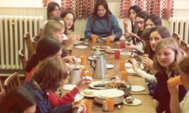 <p>This was the last supper for the Upper VIth on the last day of term in June 1975.