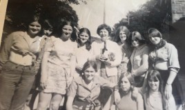 End of summer term 1969 with Mrs Boshell. Janet Yates, Lynne Morris, Julia rickards, jane Davies, Helen Rees, Amanda Thomas, Mary Davies, Janice peters, Lesley McMullen, Jane Rowe
