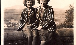 <p>Third formers Mair Helena Davies and Grace Jones, taken in 1939. </p>