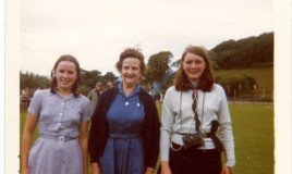 <p>Miss Salway with two pupils (unknown).  Please add a comment if you know who the pupils are or in fact they are you. </p>