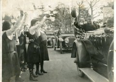 <p>On the far right of this photograph is Beryl Rees, a pupil at the school 1934-39 and later, School Secretary </p>