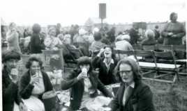 <p>School trip to Llangollen Eisteddfod in 1965.  In the picture is Diana Roberts, Susan Hughes, Anona Williams, Deilwen Jones, Lynne Hughes