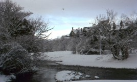 <p> A digitised original slide transparency of the school taken from the Lady Bridge in the snow in the winter of 1966.