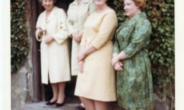 <p>Staff at Glyn Malden: Miss Picton (Cook), Miss Labram (Headmistress), Miss Williams (Matron) and Miss Bale (Teacher). </p>