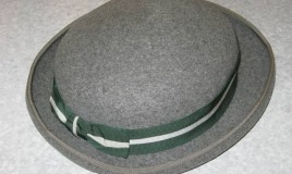 <p>Worn to church and chapel primarily, the grey hat shown was worn with a matching grey summer coat. Must have cost our parents a small fortune getting everything on the uniform list entailing, as it did, a trip to the London outfitters Daniel Neal to get kitted out - no other suppliers would do. I seem to remember representatives of Daniel Neal's may also have come to Dolgellau once a year.  </p>