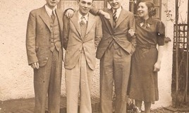 "<p>Tom, Alfred, Lawrence and Gladys were all sent to Boarding Schools in the UK from their home in Mexico.Two more brothers were not able to go to boarding school because of WWII. </p> <p>Gladys says "" My brothers went to Wellington School and they would come up during breaks on their motorcycles. They would pick me up and bring me to our Grandparents or they would just visit. If there was an extra seat on the motorcycle my brothers would pick a girl to go on an outing to the castle. Their arrival would cause quite a stir among the girls.""  </p> <p>Editors Note: I can imagine they would indeed have caused a stir. Amazed that you were allowed out of DWS on a motorbike and taking a friend with you too! </p>"