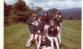 <p>A group from Lower VP messing about maybe at Pen y Coed in the 1970s