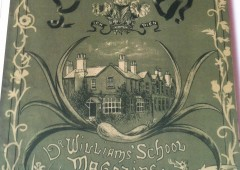 <p>This is the cover of Jean Petty's School Report Book for 1938-44. Interestingly, at that time, school reports consisted of a single page per term and were written into a book, which was taken home and counter-signed by a parent.  By the time I started at DWS, in 1959, school reports were produced individually each term and covered two pages. They were posted home and therefore did not need to be counter-signed.   </p>