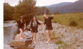 <p>Three girls having fun by the River Wnion, which was usually out of bounds.