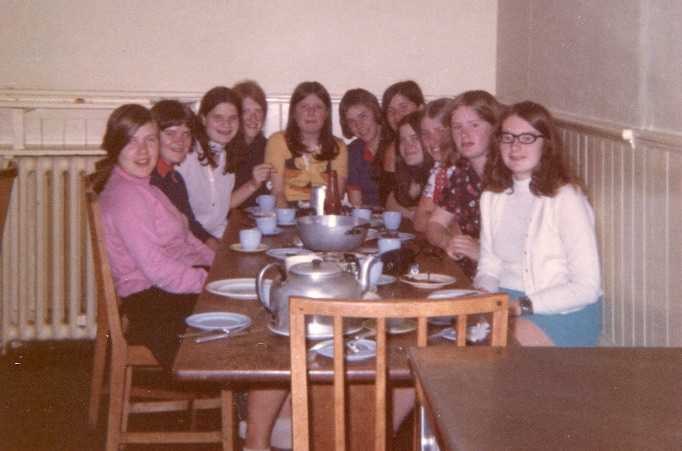 Pupils of the late 60's at supper