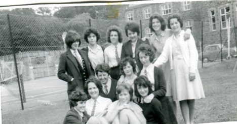 Group in 1962 outside tennis courts