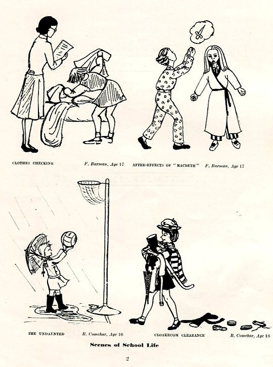 From Clothes Checking to Cloakroom clearance, cartoons 1952