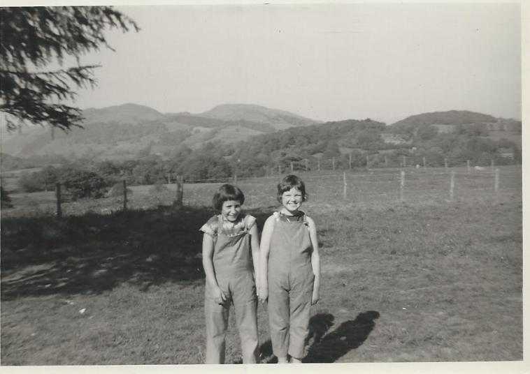 Susan Lewis and Jane Wallace at Glyn Malden field 1961