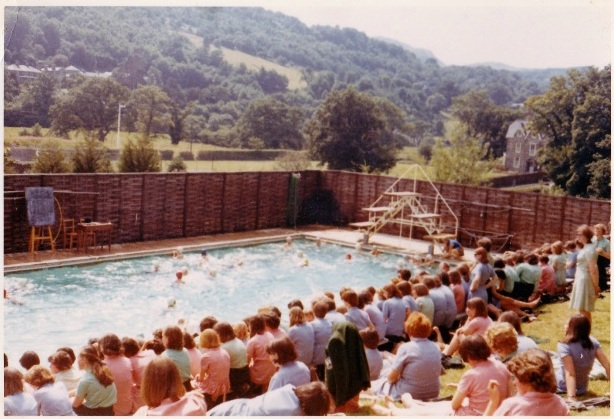 The sun shone at the annual swimming gala in 1965 or 1966
