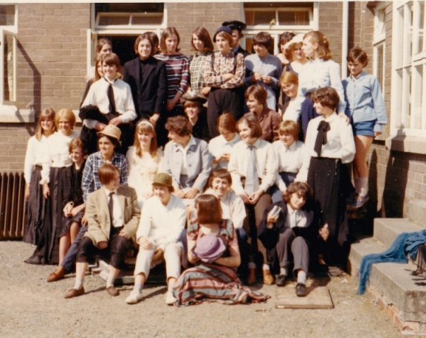 'Our Town' group photograph, drama production summer 1966