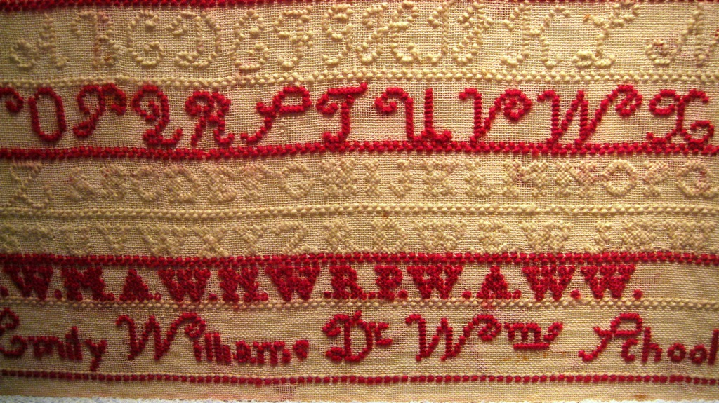 Sampler made by Emily Williams - late 19th century