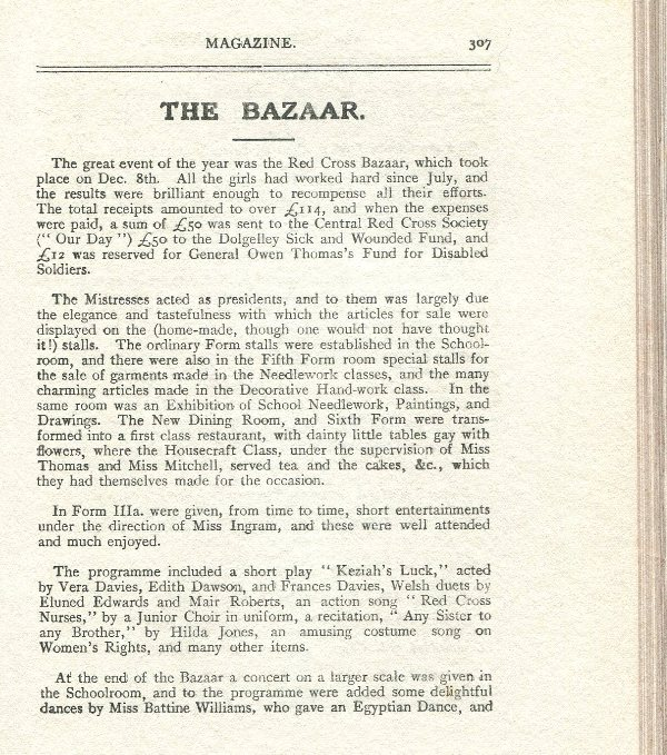 The Red Cross Bazaar - fundraising event, December 1916
