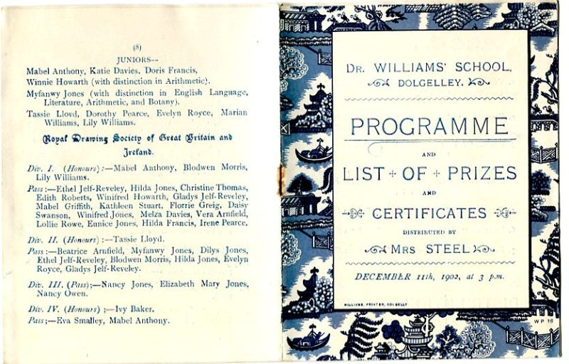 Programme and list of prizes 1902