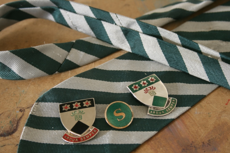 School tie with badges 1960s
