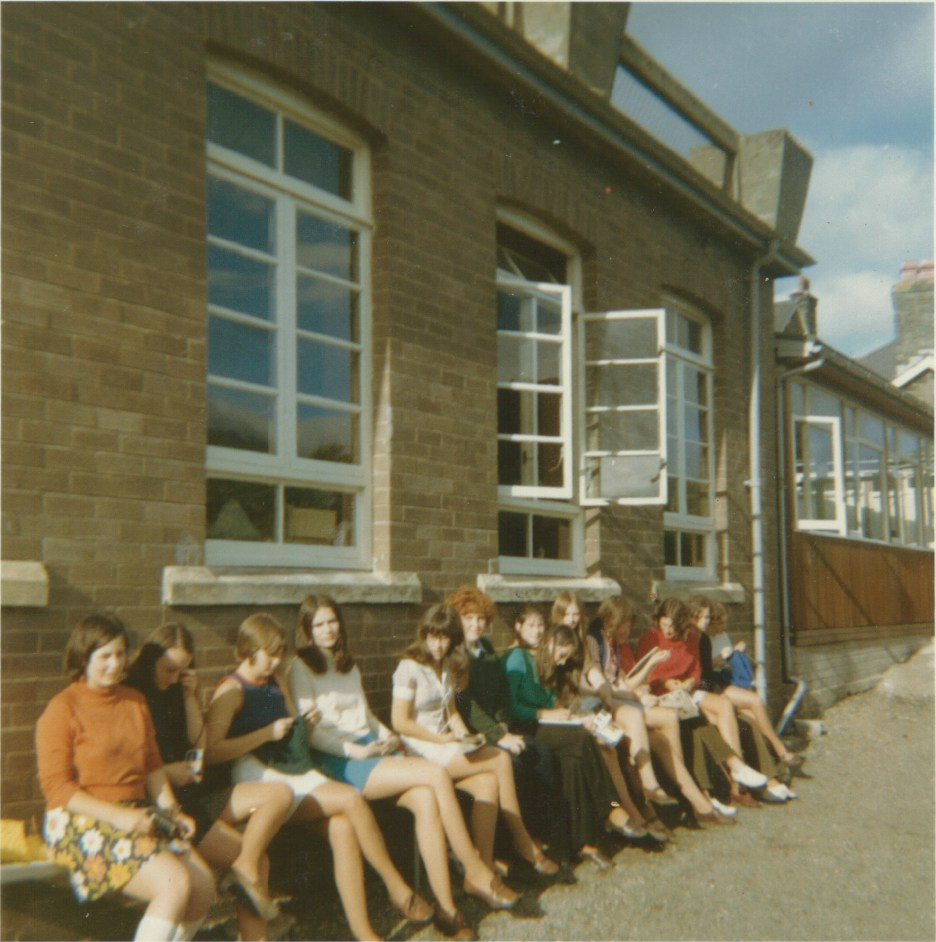 Pupils listening to Sunday Pop Charts circa 1970