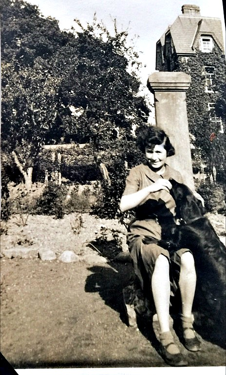 Gladys Dutton and her much loved dog