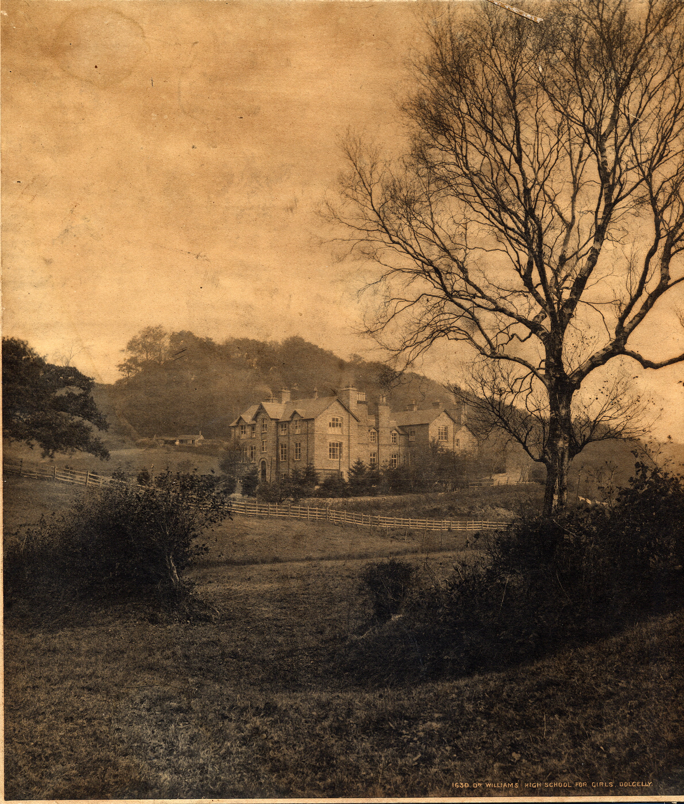 View of Dr Williams' School in 1880s