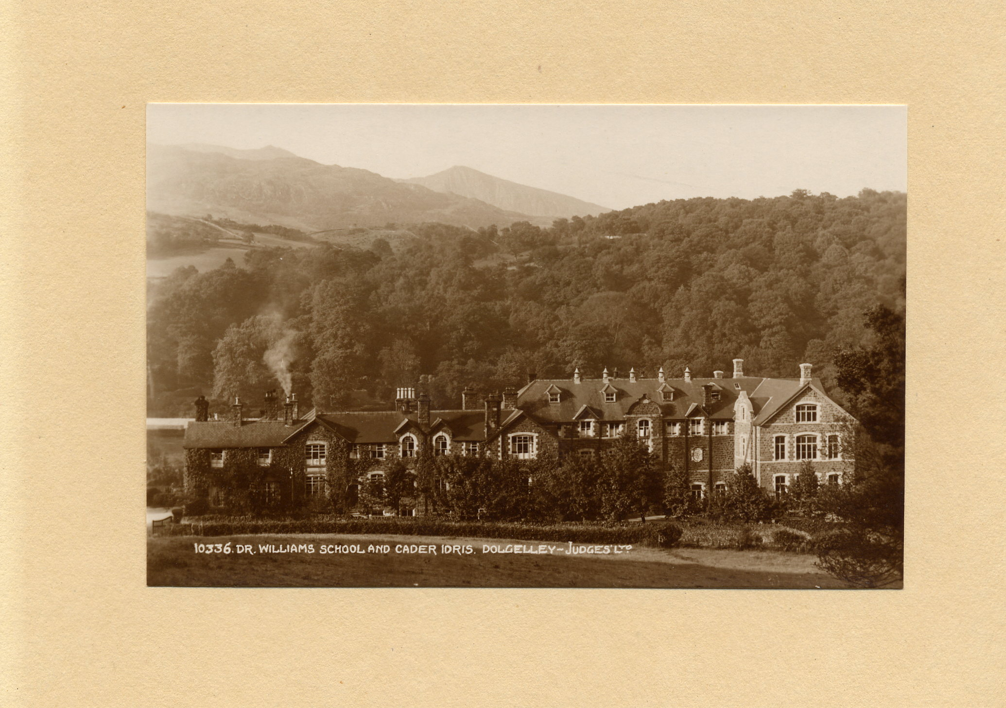View of Dr Williams' School and Cader Idris