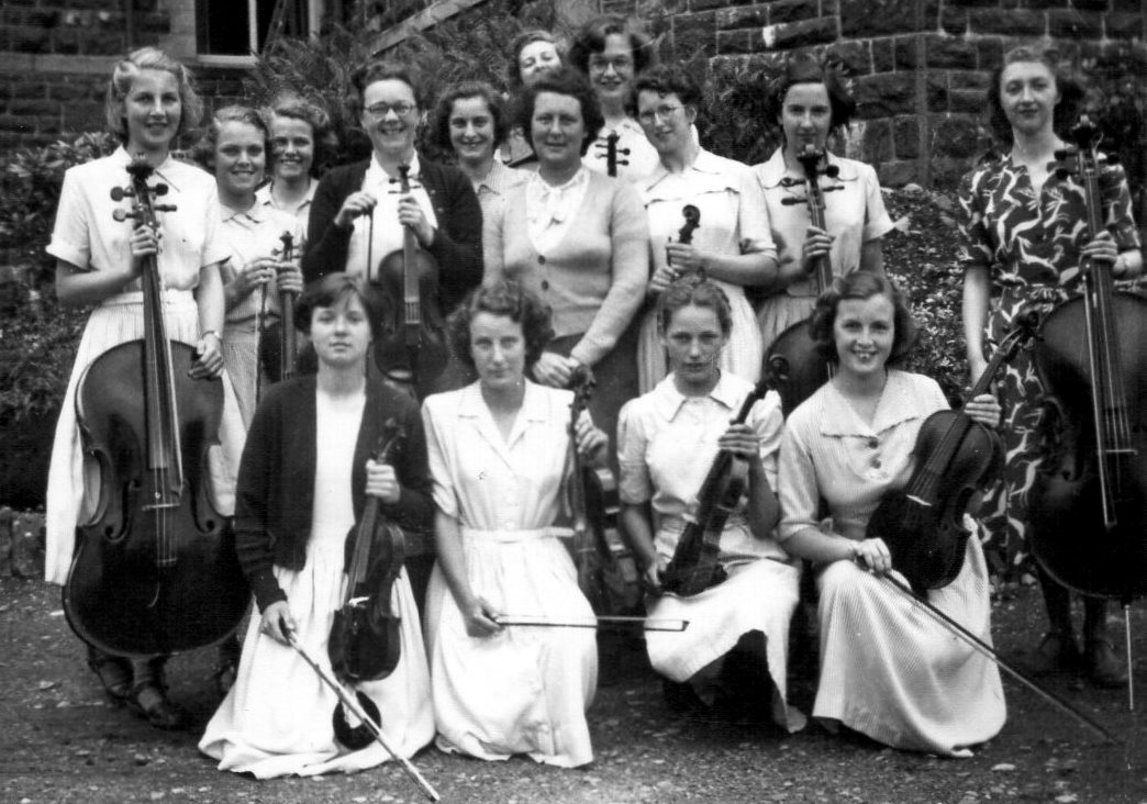 Dr Williams' School senior orchestra in 1951