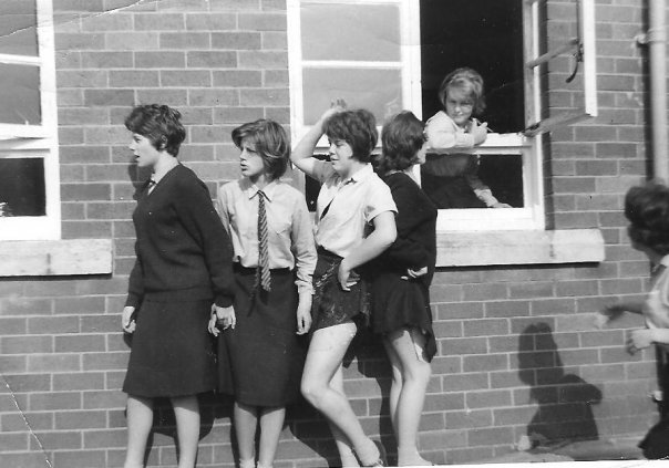Girls at breaktime in the 1960s