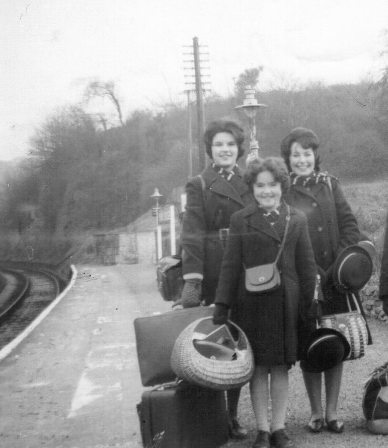Jan1963 - returning to school - last rail journey before Beeching cuts.