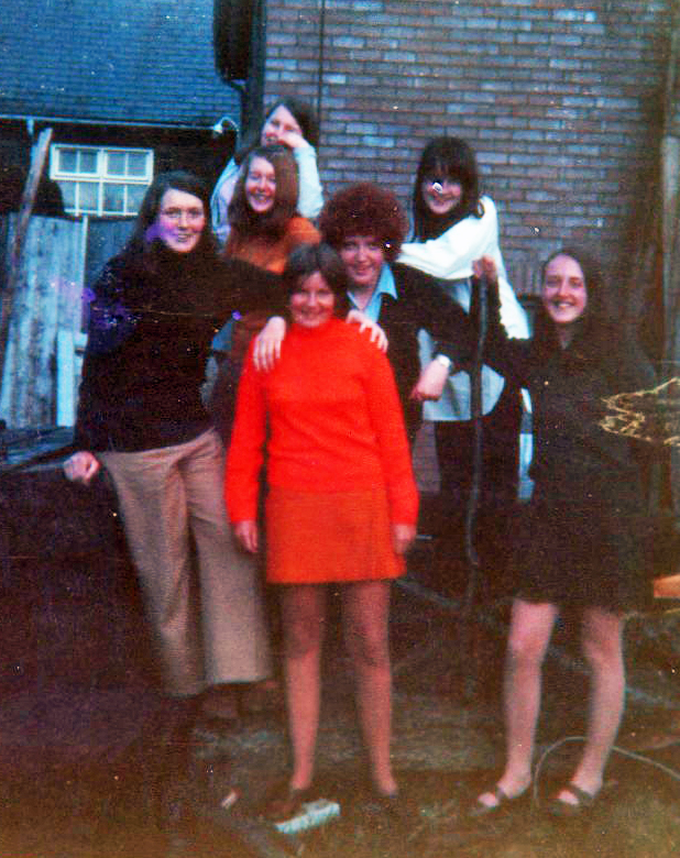 Group photograph circa 1970, girls in casual attire