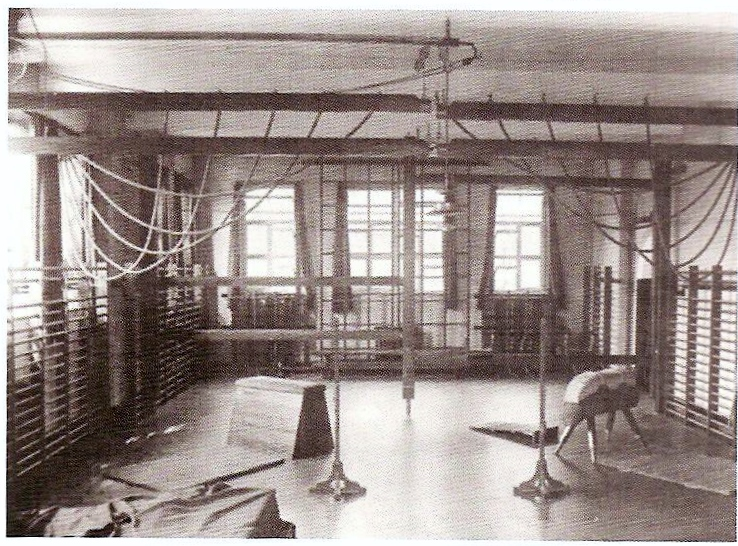 Photograph of the school gym, 1960s