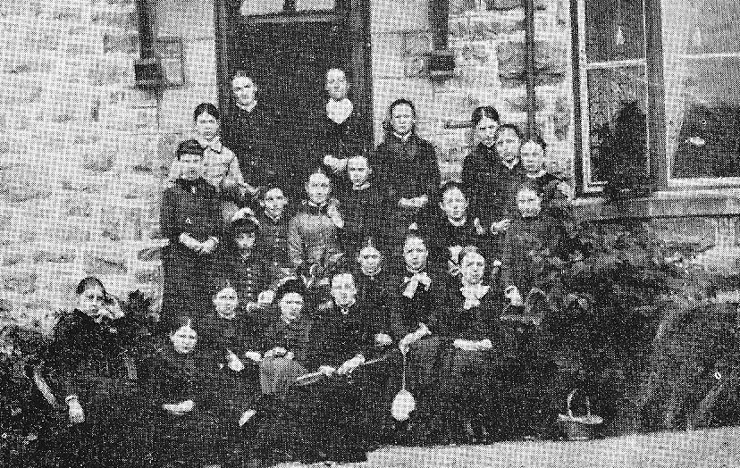 A Group of pupils in the 1880s