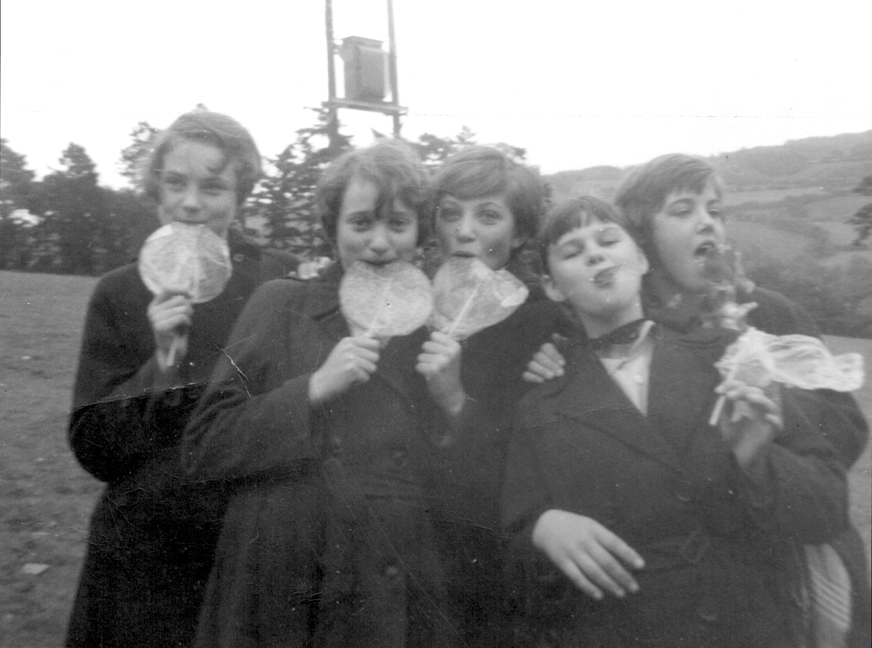 A Group of friends at the Dolgellau Eisteddfod, 1960
