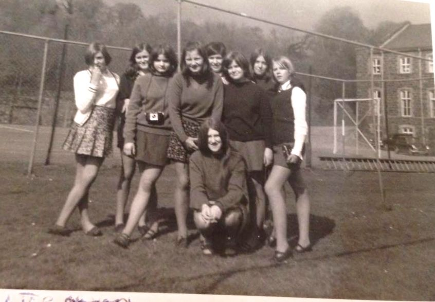 Friends on the hockey pitch 1970s