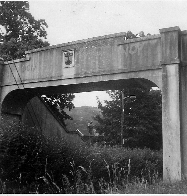 Graffiti on School Bridge, 1966