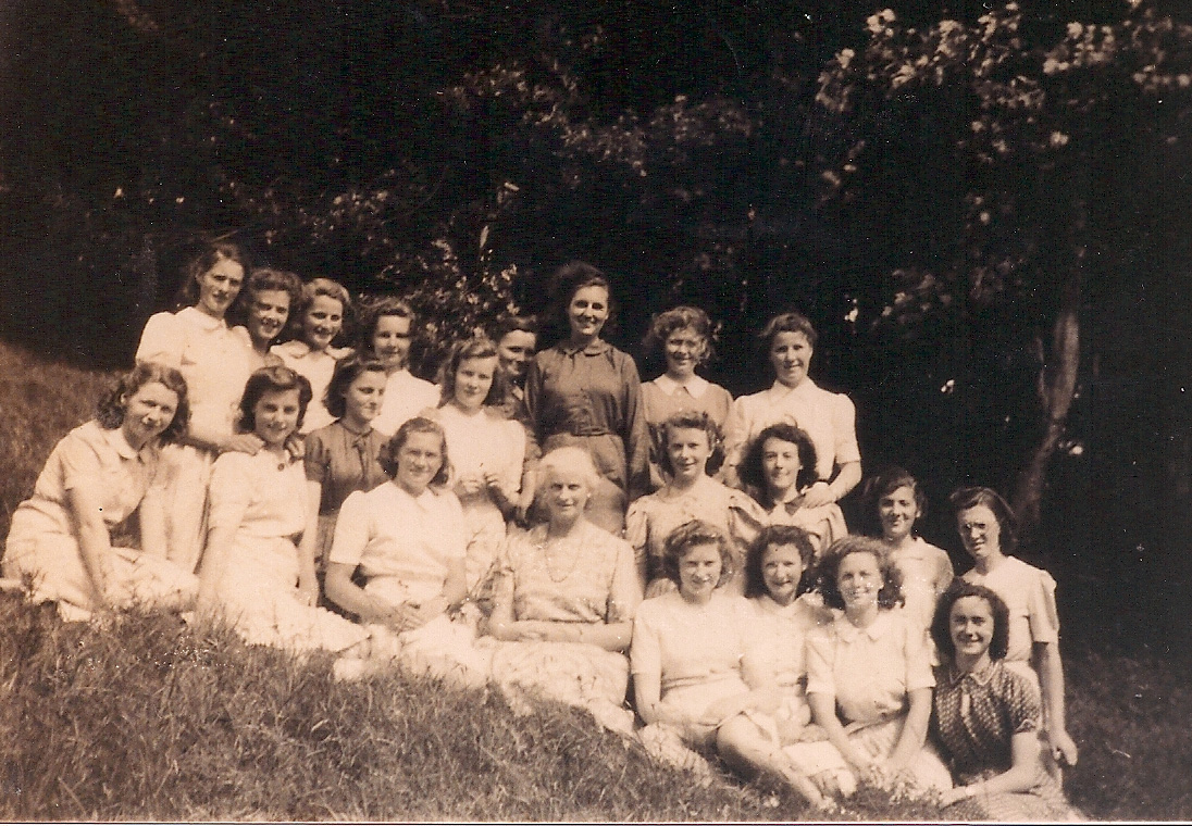 Class of 42 with Miss D M Davies