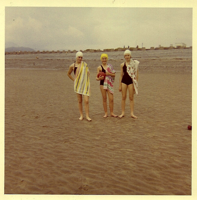 On the beach at Fairbourne, Summer 1963