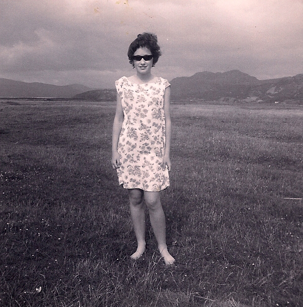 Sue Crowther at Fairbourne, 1963