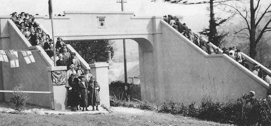 DWS school bridge opening 1938